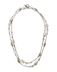 Stephen Dweck Long Baroque Freshwater Pearl And Rock Crystal Necklace 43