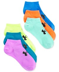 Under Armour Women's 6 Pk. Liner No Show Socks Xyl