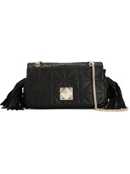 Sonia Rykiel Tassel Quilted Shoulder Bag Black
