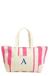 Cathy's Concepts Personalized Stripe Canvas Tote Pink Pink A