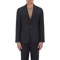 Barena Venezia Men's Speckled Three Button Sportcoat Dark Grey