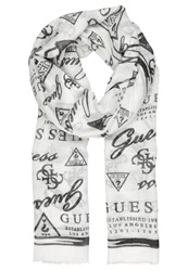 Guess Greyson Scarf White Multi