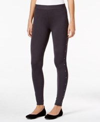 Styleandco. Style Co. Studded Leggings Only At Macy's Carbon Grey