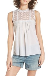 Hinge Women's Lace Tank White