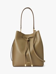 Ralph Lauren Dryden Debby Leather Medium Bucket Bag Sage
