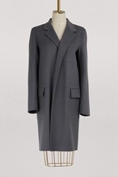 C Line Coat In Double Face Cashmere Grey