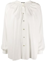 Fay Silk Ruched Neckline Blouse 60