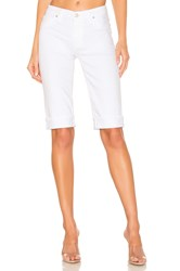 Hudson Jeans Amelia Cuffed Knee Short White