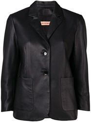 Yves Salomon Slim Single Breasted Blazer Black