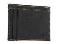 Torino Leather Co. Weekender Id Case Black Bill Fold Wallet