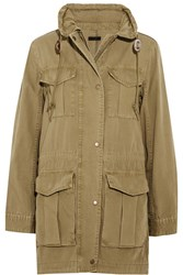 J.Crew Fatigue Hooded Cotton Canvas Jacket Army Green