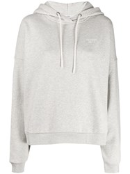 Closed Logo Embroidered Hoodie Grey