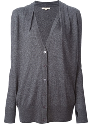 Gold Hawk Loose Fit Cardigan Grey