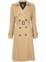 Guild Prime Double Breasted Trench Coat Nude And Neutrals