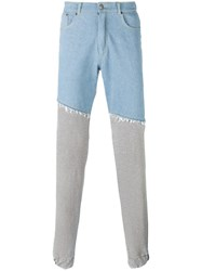 Andrea Crews Straight Sweatpants Legs Trousers Grey