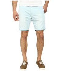Scotch And Soda Two Tone Woven Chino Shorts Mint Men's Shorts Green