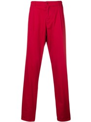 Aspesi Cropped Chino Trousers Red