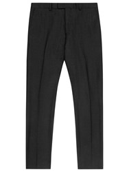 Reiss Armstrong Slim Fit Check Suit Trousers Charcoal