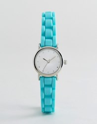 New Look Mini Neon Silicone Watch Blue