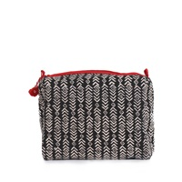 Bohemia Design Black And Hibiscus Aztec Print Wash Bag