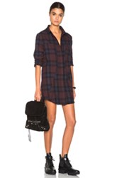Rta Genevieve Plaid Shirt Dress In Red Checkered And Plaid