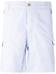 Ermanno Scervino Striped Pocket Shorts Blue