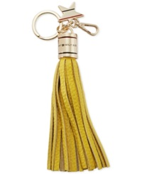 Tommy Hilfiger Leather Tassel With Star Key Fob Yellow