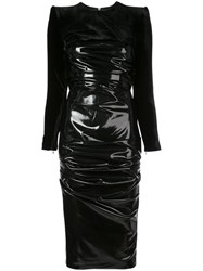 Alex Perry Hart Layered Effect Dress Black