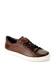 Bruno Magli Westy Leather Lace Up Sneakers Green