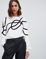 Minimum Scribble Jumper Broken White