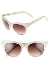 Draper James Women's 54Mm Gradient Lens Cat Eye Sunglasses White