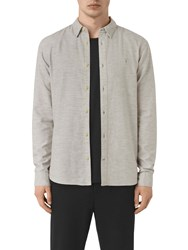 Allsaints Ramey Slim Fit Shirt Light Grey