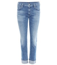 Citizens Of Humanity Jazmine Cigarette Straight Jeans With Cuff Blue
