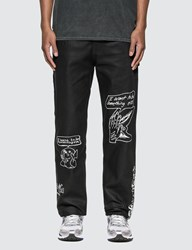 Brain Dead Printed Canvas Carpenter Pants Black