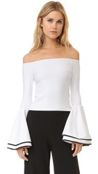 Torn By Ronny Kobo Mimi Top White