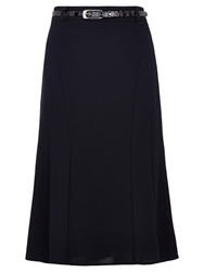 Viyella Textured Crepe Skirt Navy