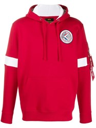 Alpha Industries Apollo 15 Hoodie Red