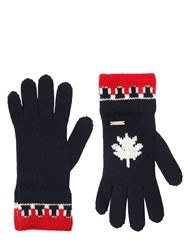 Dsquared Wool And Alpaca Blend Knit Gloves