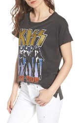 Junk Food Kiss Tee Vintage Black