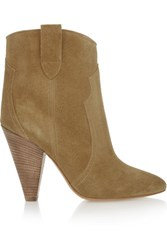 Etoile Isabel Marant Roxann Suede Ankle Boots Tan