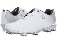 Footjoy Dna Helix White Silver Bicycle Toe Golf Shoes