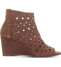 Michael Michael Kors Uma Suede Cutout Booties Mid Brown