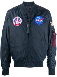 Alpha Industries Nasa Embroidered Bomber Jacket Blue