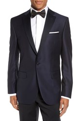David Donahue Men's Big And Tall 'Reed' Classic Fit Wool Dinner Jacket Navy