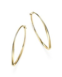 Bloomingdale's 14K Yellow Gold Twisted Oval Hoop Earrings