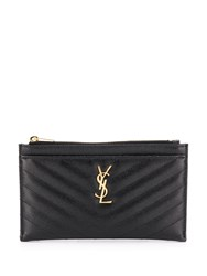 Saint Laurent Quilted Monogram Pouch Black