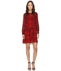 Boutique Moschino Snake Heart Dress Red