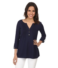 Lilly Pulitzer Dorothy Top True Navy Women's Clothing