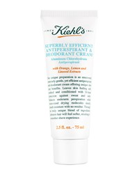 Superbly Efficient Anti Perspirant And Deodorant Cream 2.5 Fl. Oz. Kiehl's Since 1851