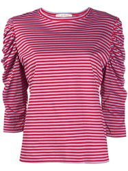 Danielapi Striped Ruched Sleeved Top 60